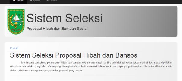 Sistem Penyeleksian Proposal Hibah dan Bantuan Sosial