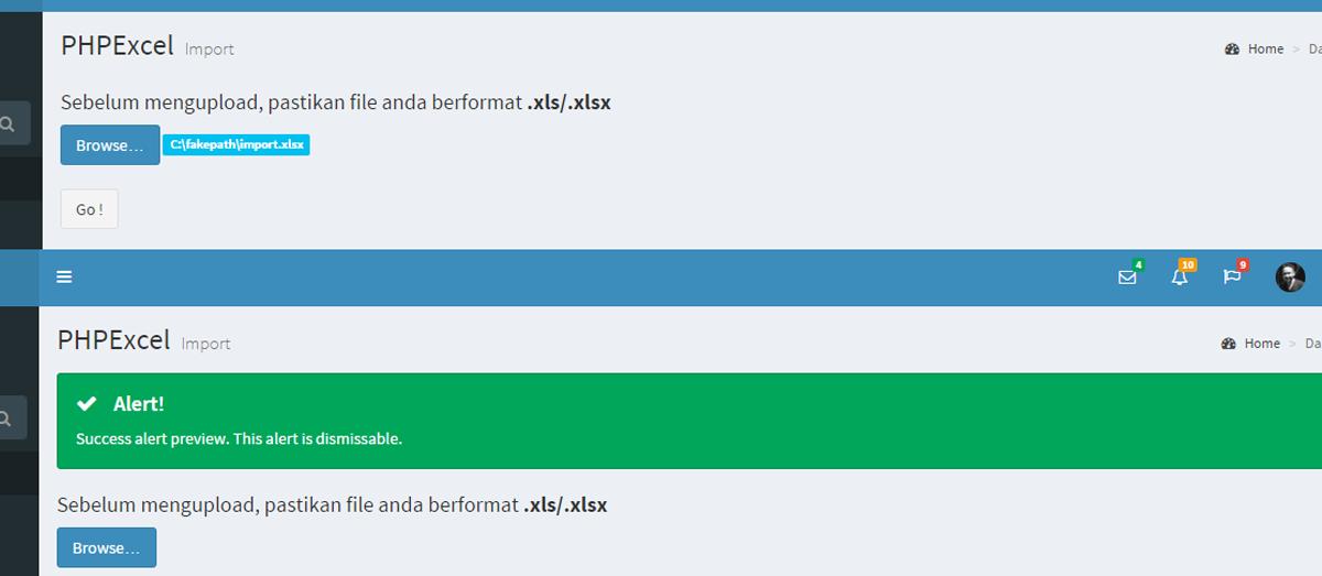 Export Import File Excel Dengan Menggunakan Codeigniter